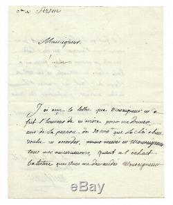 Axel de FERSEN / Lettre autographe signée / Favori de Marie-Antoinette