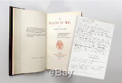 BAUDELAIRE Les fleurs du mal 1857 EDITION ORIGINALE & LETTRE AUTOGRAPHE