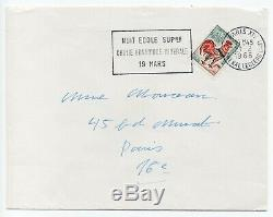 BEAUVOIR (Simone de) Lettre autographe signée + Page manuscrite