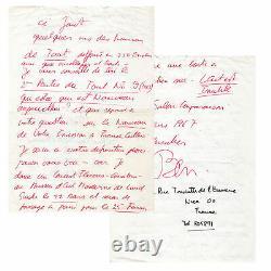 BEN VAUTIER Lettre autographe signée adressée 1967 FLUXUS