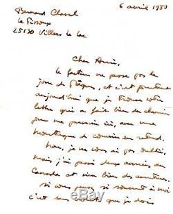 BERNARD CLAVEL lettre autographe signée- jolie lettre