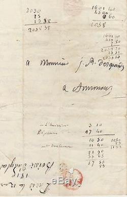 BOISSY D'ANGLAS Lettre autographe signée 1er empire lettre des cent jours