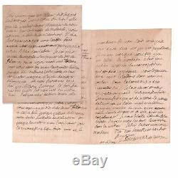 BOSSUET Belle lettre autographe signée 3 pages à François Diroys 1672