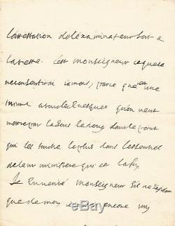 BOSSUET / Lettre autographe signée / 8 pages / La censure et l'église / oct. 1702