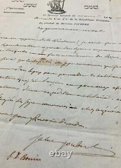 Barthélemy-Catherine JOUBERT Lettre autographe signée / CAMPAGNE ITALIE