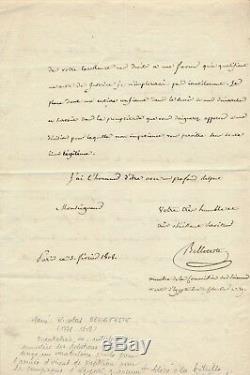 Belleteste orientaliste lettre autographe signée ordre paiement Egypte Napoléon