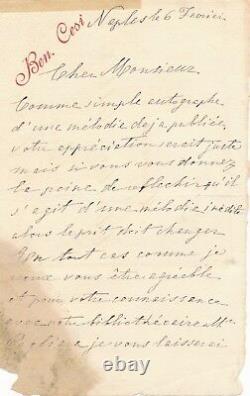 Beniamino Cesi pianiste professeur 2 lettres autographes signées Donizetti