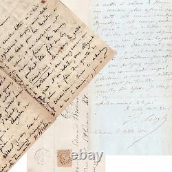 Berlioz, Delacroix, Gautier, Liszt. 80 LETTRES AUTOGRAPHES SIGNÉES