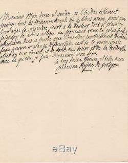 CATHERINE REINE DE POLOGNE Lettre autographe signée au roi LOUIS XV