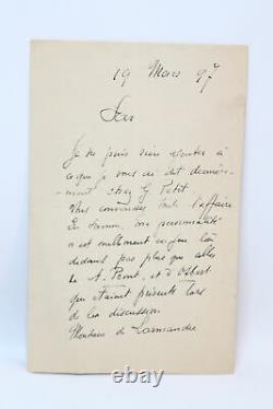 CHABAS Lettre autographe signée EDITION ORIGINALE ENVOI AUTOGRAPHE 1897