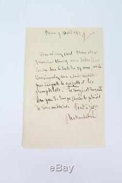 CHATEAUBRIAND Lettre autographe signée Henry E. O AUTOGRAPHE 1829