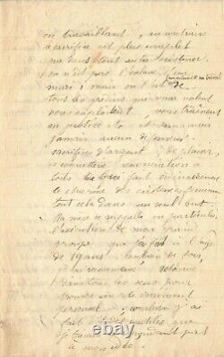 Camille CLAUDEL Exceptionnelle lettre autographe signée sur son art et sa vie