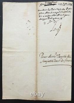 Cardinal de RICHELIEU- Lettre signée Santé du Roy et prospérité des affaires