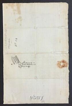 Catherine De MEDICIS Reine de France Lettre signée au Chambellan Henri III