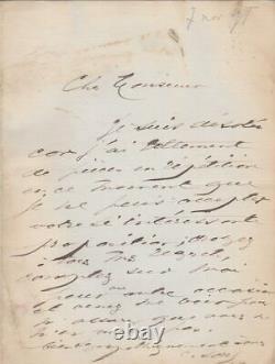 Cécile SOREL / COMTESSE DE SÉGUR Lettre autographe signée