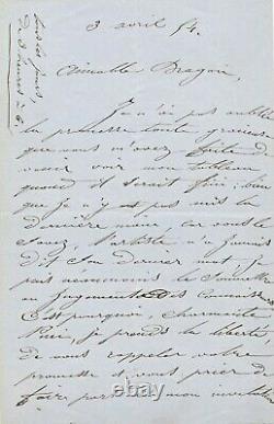 César DUCORNET lettre autographe signée peintre né sans bras