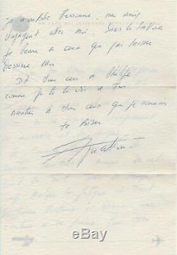 Charles AZNAVOUR Lettre autographe signée