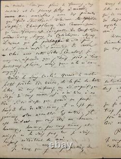 Charles BAUDELAIRE Importante lettre autographe signée adressée à Champfleury