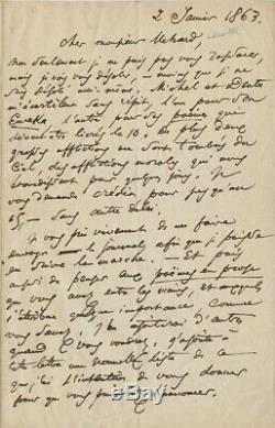 Charles BAUDELAIRE Lettre autographe signée Les petits poèmes en prose