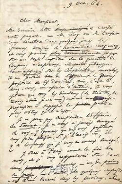 Charles BAUDELAIRE Lettre autographe signée / POE et Les petits poèmes en prose