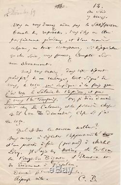 Charles BAUDELAIRE / Lettre autographe signée à P. Malassis. Edgar POE, Opium