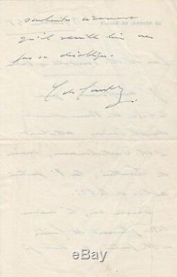 Charles DE GAULLE Lettre autographe signée sur le RPF