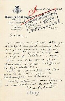 Charles TRENET Lettre autographe signée