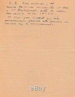 Charles TRENET ensemble de 3 lettres autographes signées