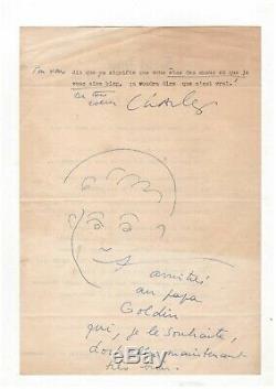 Charles Trenet / Lettre Signée (1949) Avec Dessin / Compagnons De La Chanson