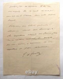 Charles de GAULLE Belle lettre autographe signée à un colonel, 1937