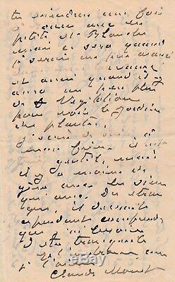 Claude MONET Lettre autographe signée concernant les cathédrales de Rouen