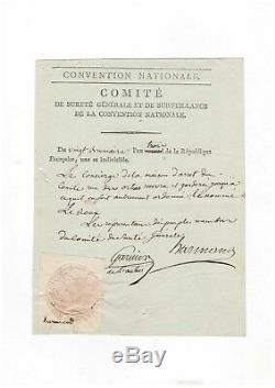 Comité De Sureté Général/ Lettre Signée (1794)/ Arrestation / Paris / Révolution