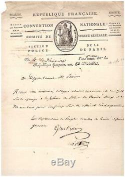 Comité De Sureté Général/ Lettre Signée (1795) / Royalisme / Révolution