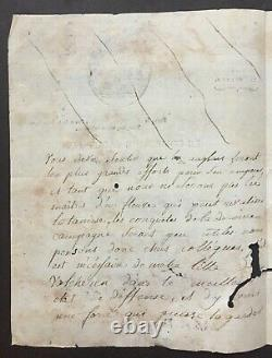 Comité de Salut Public Lettre manuscrite signée Sieyès, Boissy, Merlin. 1794