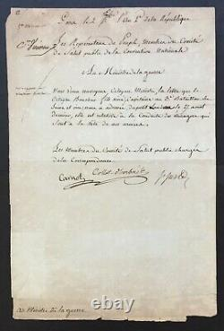 Comité de Salut Public, SAINT-JUST Document / lettre signée 1793