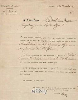 Comte Jean Rapp / Lettre Signée (1813) / Dantzig / Napoléon / Grande Armée