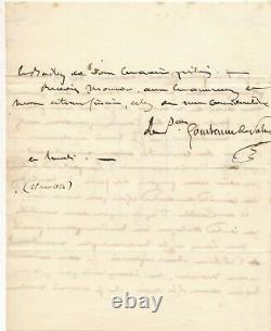 Constance de THÉIS princesse de SALM-DYCK rare lettre autographe signée