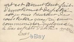 Constantin MEUNIER belle carte autographe signée son art émotion pitié Descaves