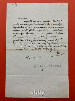 Constantin de VOLNEY Lettre autographe signée
