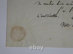DAUSSOIGNE-MEHUL Joseph LETTRE AUTOGRAPHE SIGNÉE, OPÉRA, NOVEMBRE 1813