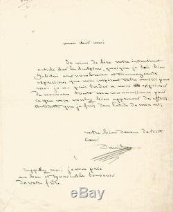 DAVID DANGERS / Lettre autographe signée / L'étude de son Art