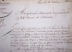 DEJEAN, Général. Lettre Signée au Général MARMON, duc de RAGUSE. 1806