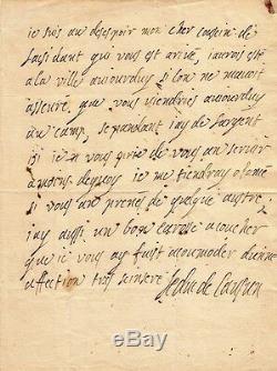 DUC DE LAUZUN Lettre autographe signée. Prise de Namur par Louis XIV. 1692