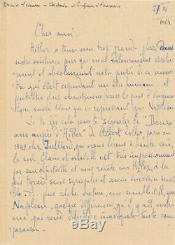 D. LASSERRE historien suisse carte autographe signée Hitler Napoléon comparaison