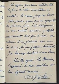 De LATTRE DE TASSIGNY Superbe lettre autographe signée à Paul Valéry 1940
