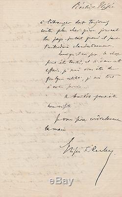 ELISEE RECLUS lettre autographe signée ANARCHISTE FRANCAIS