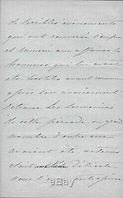 EUGENIE Impératrice Lettre autographe signée Napoléon III second empire