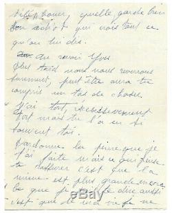 Edith PIAF / Lettre autographe signée / Rupture avec Yves MONTAND