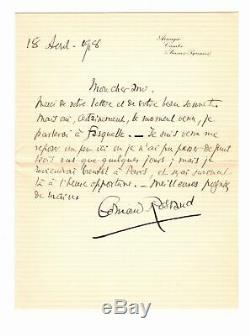 Edmond ROSTAND Lettre autographe signée a Georges DOCQUOIS
