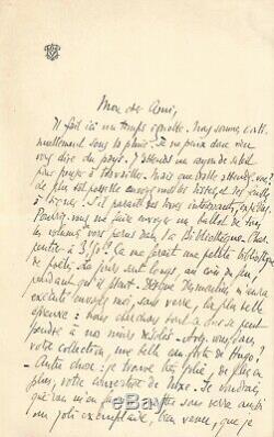 Edmond ROSTAND / Lettre autographe signée à son éditeur Eugène Fasquelle
